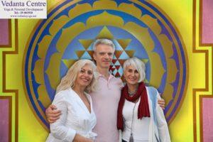 With Viola Edward @ Vedanta Yoga Center